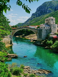 Mostar Bosnia Mobile Wallpaper