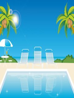Summer House Mobile Wallpaper