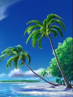 Tropical Island Mobile Wallpaper