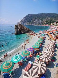 Beach Umbrellas Mobile Wallpaper