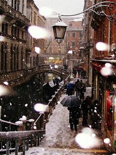 Venice In Winter Mobile Wallpaper