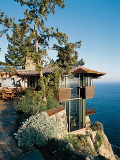 Cliff Top House Mobile Wallpaper
