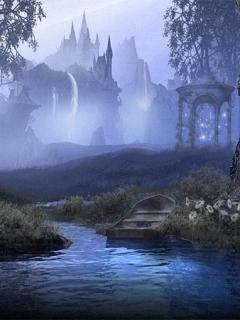 Foggy Lake Mobile Wallpaper