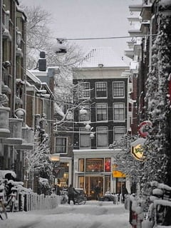 Amsterdam Winter Mobile Wallpaper