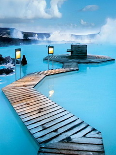 Blue Lagoon Iceland Mobile Wallpaper