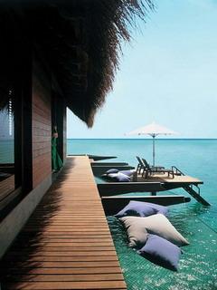 Tropical Retreat Maldives Mobile Wallpaper