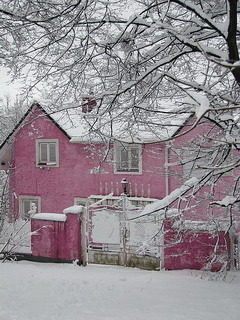 Pink Winter Home Mobile Wallpaper