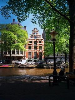 Amsterdam Boats Mobile Wallpaper
