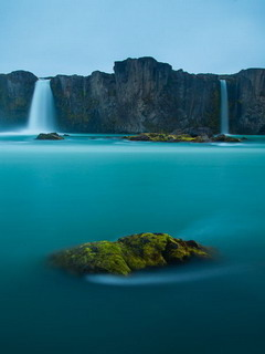 Waterfalls Of God Iceland Mobile Wallpaper
