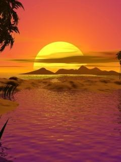 Beautiful Sunset Mobile Wallpaper
