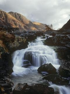Rocks Waterfalls Mobile Wallpaper