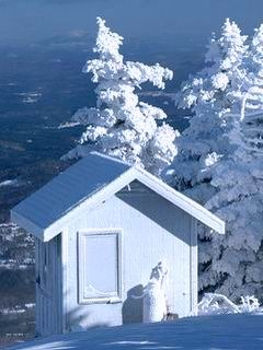 Winter House Mobile Wallpaper