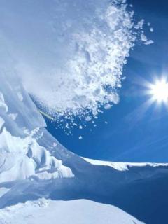 Snow Falls Sun Mobile Wallpaper