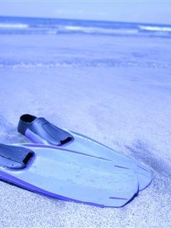 Blue Swim Feet Mobile Wallpaper