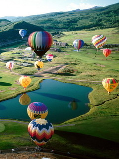 Balloons Over Nature Mobile Wallpaper