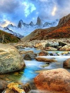 Mountain River Mobile Wallpaper