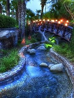 Bridge Lights And River Mobile Wallpaper