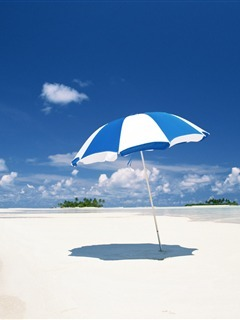 Beach Umbrella Mobile Wallpaper