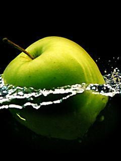 Green Apple Mobile Wallpaper