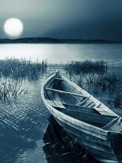 Night View Boat Mobile Wallpaper
