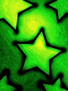 Green Stars Mobile Wallpaper