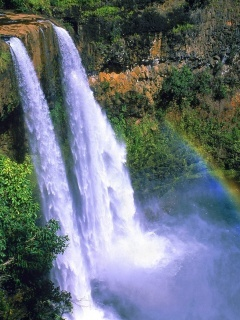 White Waterfall Mobile Wallpaper