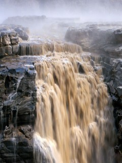 Mountain Waterfalls Mobile Wallpaper