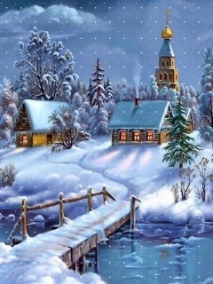 Winter Dreamland Mobile Wallpaper