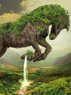 Horse Falls Nature Mobile Wallpaper