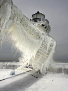 Ice Sea Spray Mobile Wallpaper
