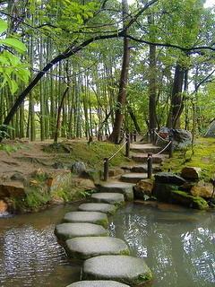 Tenjuan Gardens In Kyoto Japan Mobile Wallpaper