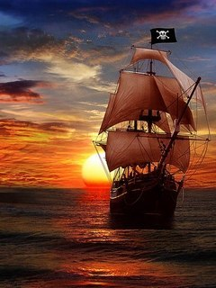 Pirate Ship Mobile Wallpaper