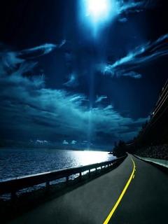 Highway Nights Mobile Wallpaper