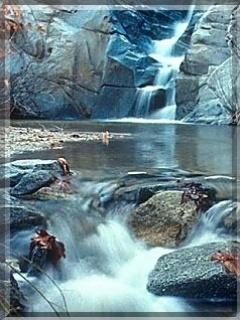 Blue Naturefall Mobile Wallpaper