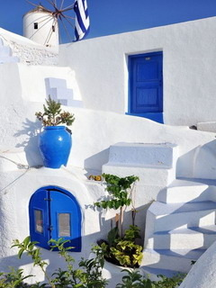 House Oia Santorini Mobile Wallpaper