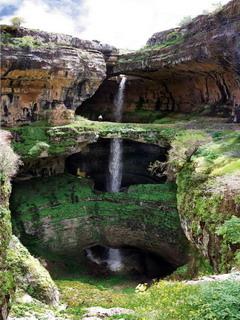 Balaa Sinkhole In Lebanon Mobile Wallpaper