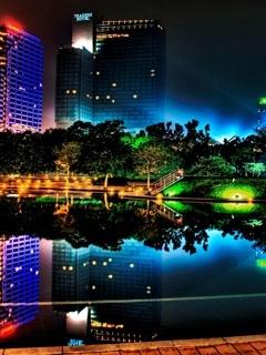 Night Neon Mobile Wallpaper