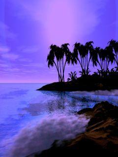 Purple Island Mobile Wallpaper