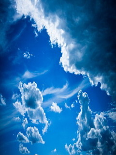 Blue Clouds Mobile Wallpaper