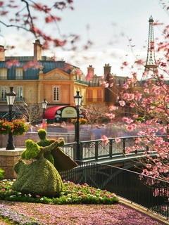 Garden Lover In Paris Mobile Wallpaper