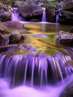 Purple Falls Mobile Wallpaper