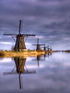 Windmills Mobile Wallpaper