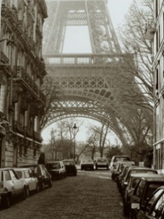 Paris And Road Mobile Wallpaper