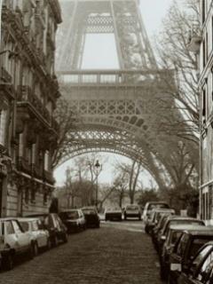 Paris And Road Mobile Wallpaper