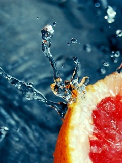 Fruit Water Splash Mobile Wallpaper