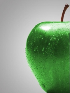 Green Wety Apple Mobile Wallpaper