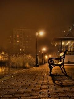 Brown Night City Mobile Wallpaper