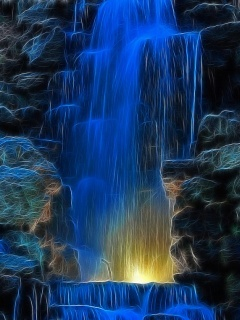 Blue Waterfall Mobile Wallpaper