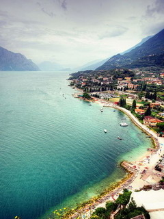 Malcesine Lake Garda Italy Mobile Wallpaper
