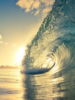 Awesome Sea Waves Mobile Wallpaper